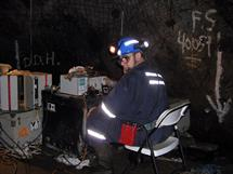 The receiver operator at underground survey